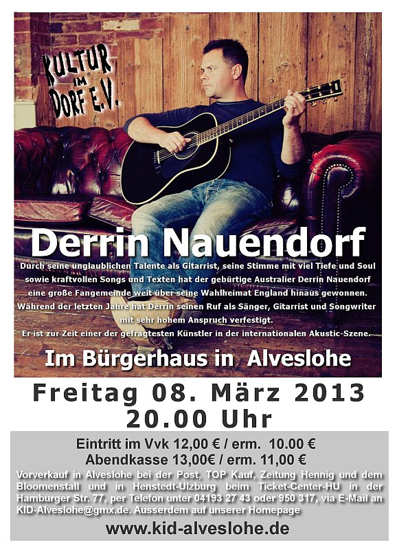 Derrin Nauendorf am 8.3. in Alveslohe