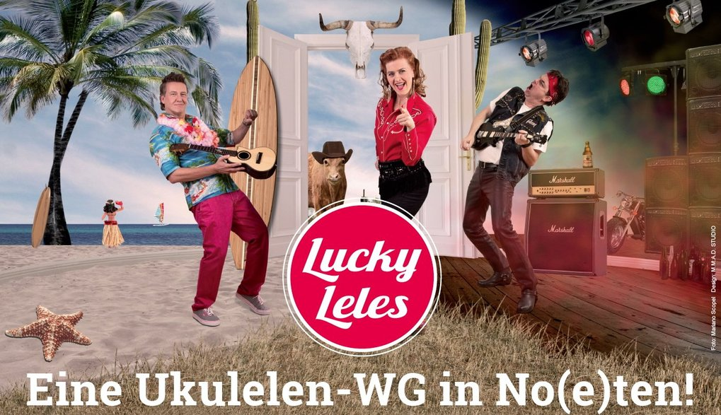 Lucky Leles - Eine Ukulelen WG in No(e)ten - Am 16. Sept. in Alveslohe im Bürgerhaus