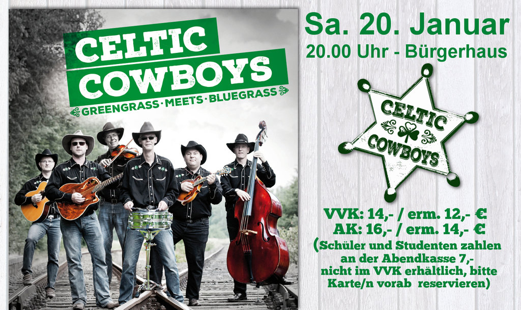 Celtic Cowboys - greengrass meets bluegrass