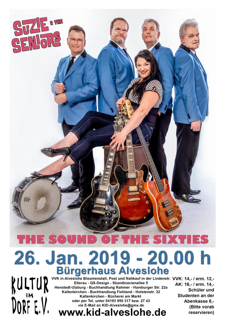 SUZIE and THE SENIORS live in Alveslohe am 26. Januar